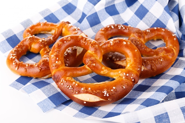 Traditional bavarian salty pretzels