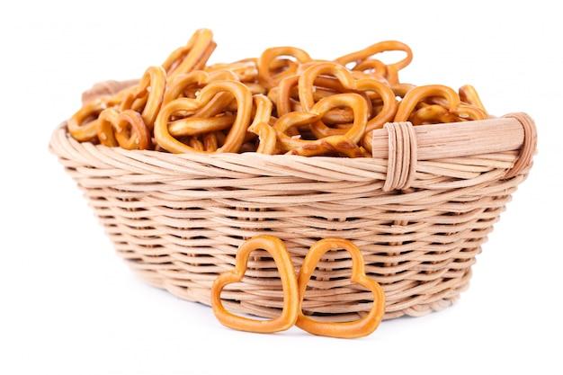 Traditional bavarian small salty pretzels