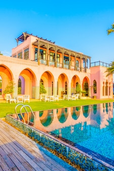 Традиционное красивое здание марокканская марокко