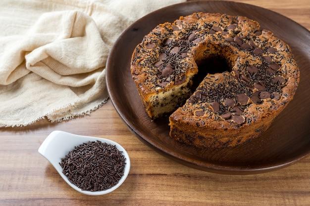 Традиционный бразильский торт под названием боло формигейро