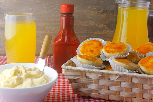 Traditional brazilian snack on a basket