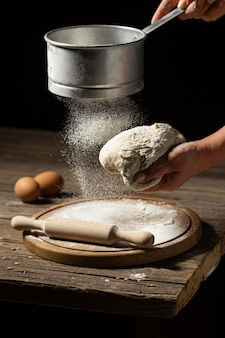 Traditional bread of dead making