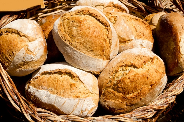 Traditional bread from mediterranean spain
