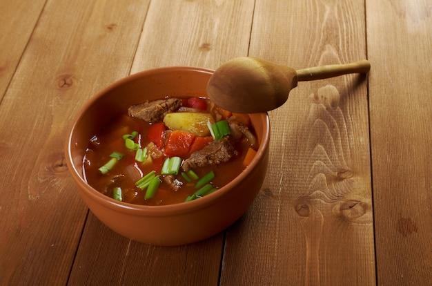 伝統的なブルガリアのスープchorba.shurpaスープ