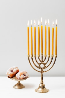 Traditional candlestick hanukkah holder