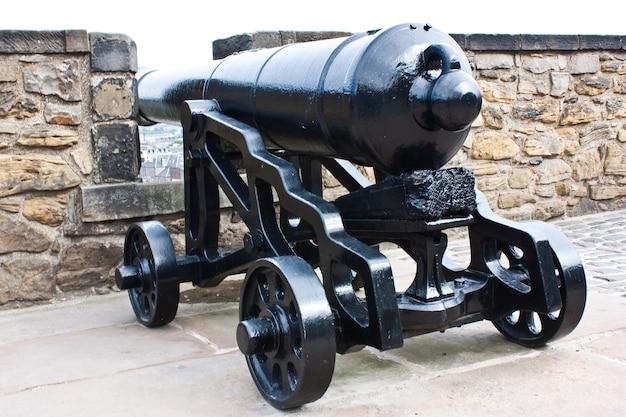 約200年前の伝統的な大砲。コンセプトに役立ちます。