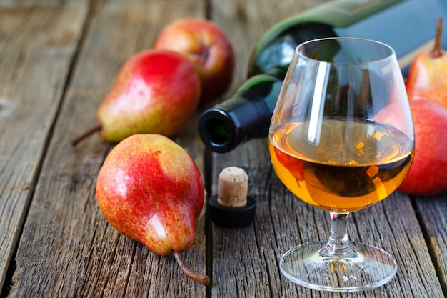 Traditional chilean pear brandy