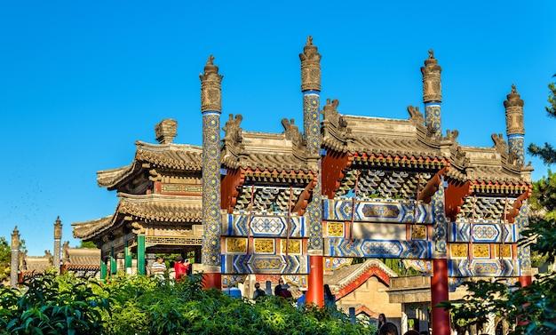 中国、北京の頤和園にある繁体字中国語の橋