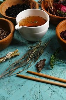 伝統的な中国の漢方薬の成分、クローズアップ