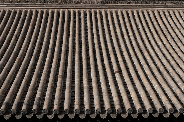 Traditional chinese residences architecture tile roof in tianshui folk arts museum hu shi folk house, gansu china