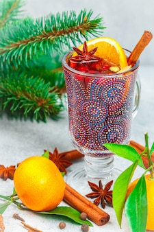 Traditional christmas mulled red wine