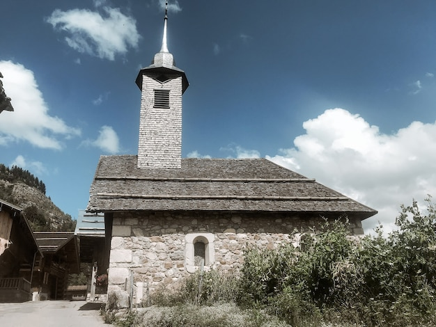 チャイナイヨン村、グランドボルナン、フランスの伝統的な教会