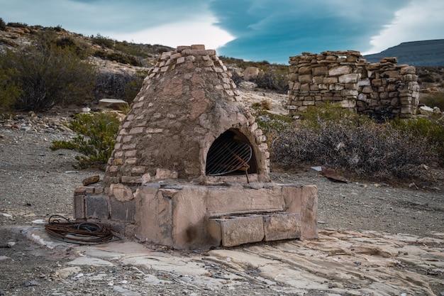 村の伝統的な粘土オーブン。アルゼンチン