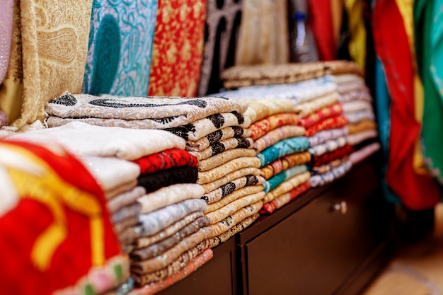 Traditional colorful arabic scarves and shawls