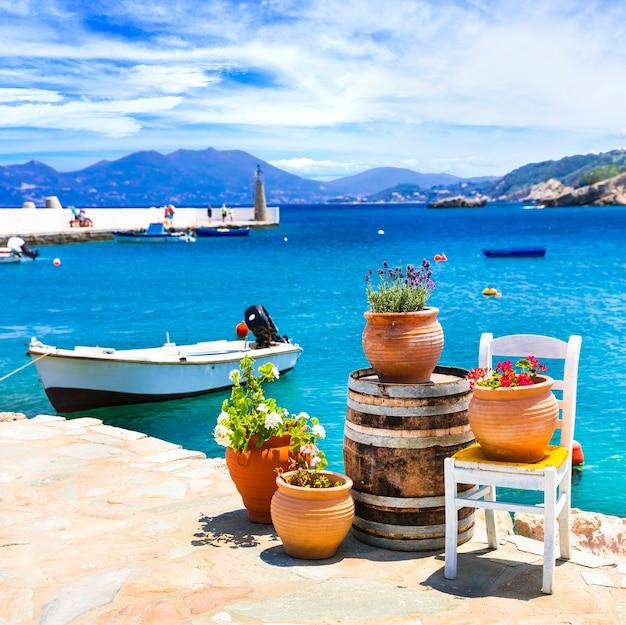 전통적인 다채로운 그리스 시리즈
