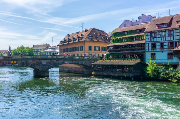Traditional colorful houses in strasbourg at france