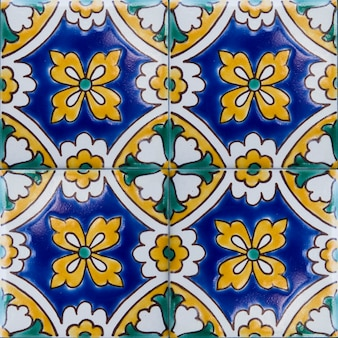 Traditional colorful tiles from malta