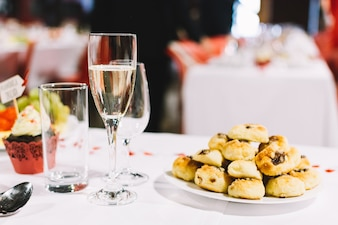 Traditional Czech pastry on a wedding celebration party