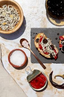 Traditional delicious gulas dish arrangement