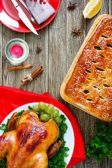 Традиционное блюдо с курицей на день благодарения
