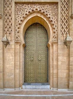 Traditional door in rabat morocco