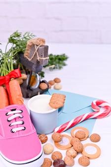 子供シンタークラースの伝統的なオランダの休日。ヨーロッパとオランダの冬休み。