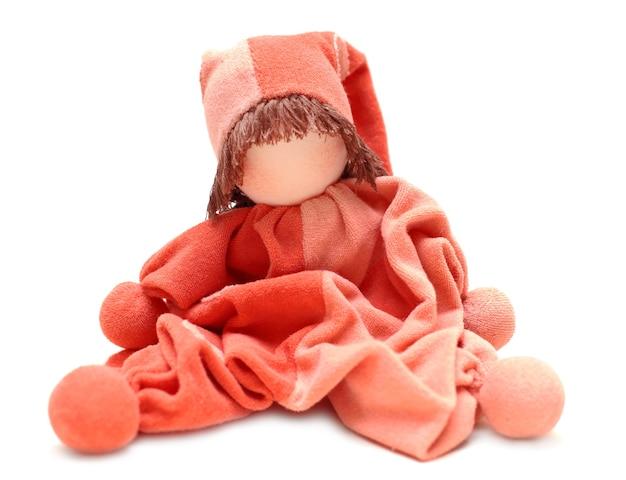 伝統的なエコ人形、生まれたばかりの赤ちゃんのために縫い付けられた母親