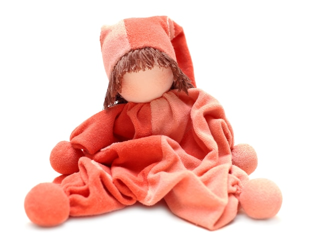 Traditional eco doll, sewed mother for newborn baby