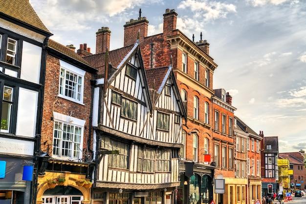 英国、イングランドのヨークにある伝統的な英国家屋