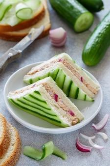 Традиционные английские бутерброды с чаем