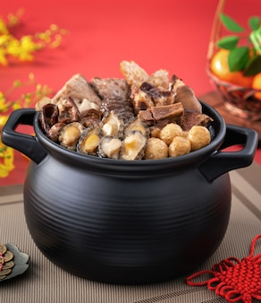 Traditional food of chinese lunar new year celebration