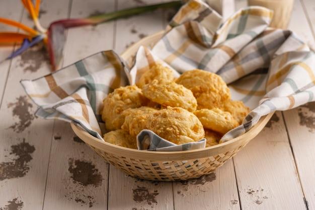 バスケットハイアングルの伝統的な食べ物