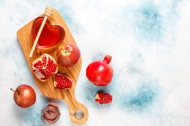 ユダヤ人の新年の伝統的な食べ物-roshhashana。