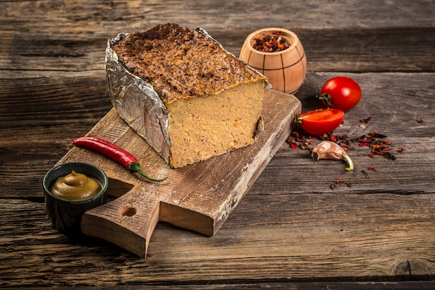Traditional french liver pate with liver