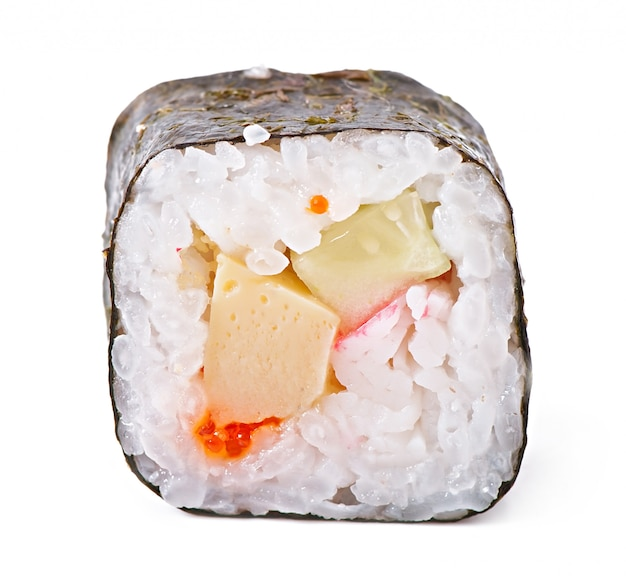Traditional fresh japanese sushi rolls