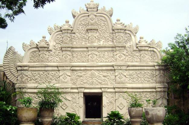 Traditional gate of taman sari water castle in yogyakarta indonesia in sultan palace