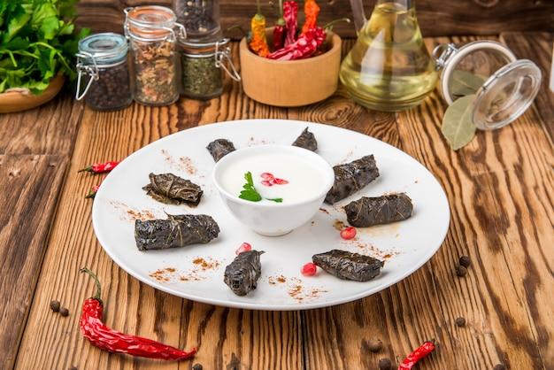 Traditional georgian cuisine, dolma