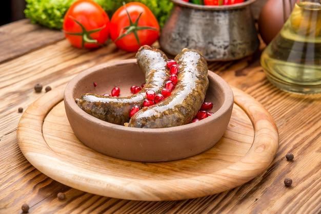 Traditional georgian cuisine, sausage