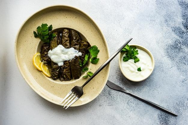 Traditional georgian tolma dish