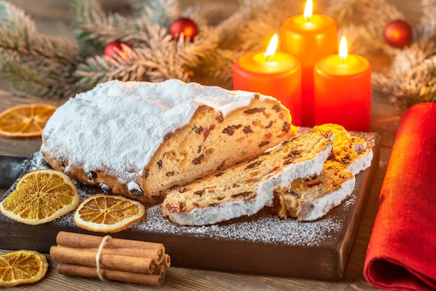 Traditional german christmas bread