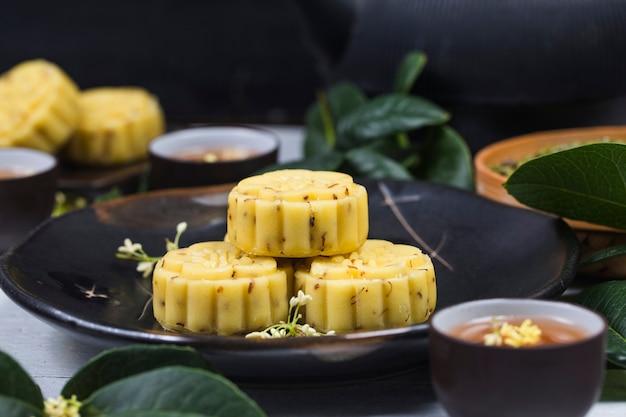 전통 음식 오스만 투스 케이크, 중국 생과자