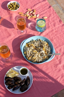 Disposizione del piatto tradizionale gulas