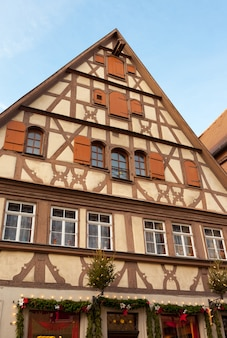 Traditional half timbered house in rothenburg ob der tauber