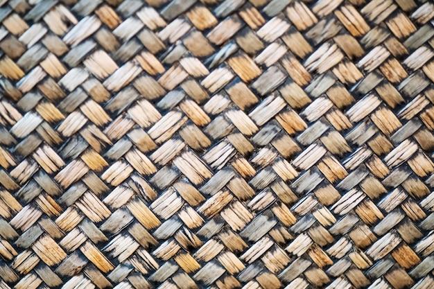 伝統的な手芸自然竹織りパターンタイ風背景テクスチャ