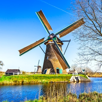 Traditional holland scenery