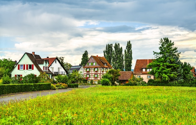 독일 reichenau 섬의 전통 가옥