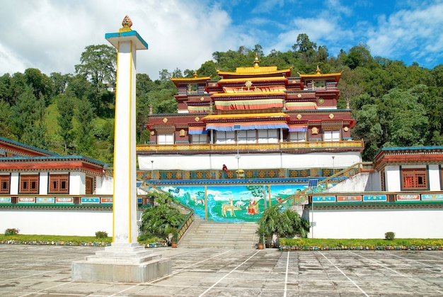 Traditional indian buddhistic monastery. in india, state sikkim