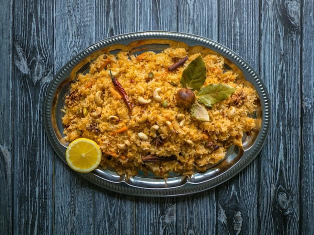 Traditional indian vegetarian biryani. veg biryani recipe