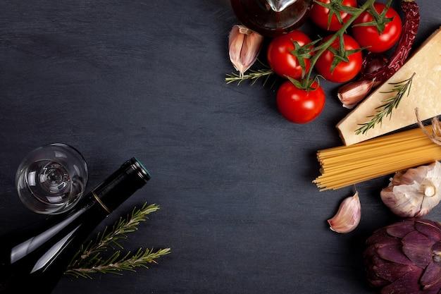 Traditional ingredients of italian cuisine