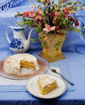 Traditional italian diplomatic cake